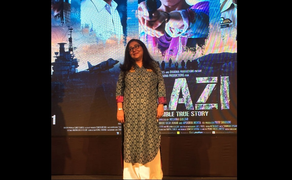 Alia Bhatt, Vicky Kaushal, Meghna Gulzar at audio launch event of the upcoming film Raazi