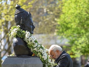 Narendra Modi pays tribute to Basaveshwara in London ahead of Karnataka polls: How dailies covered event