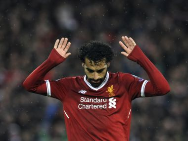 Mohamed Salah scored twice to help Liverpool gain a 5-2 lead against AS Roma in the 1st leg of the Champions League semi-final. AP