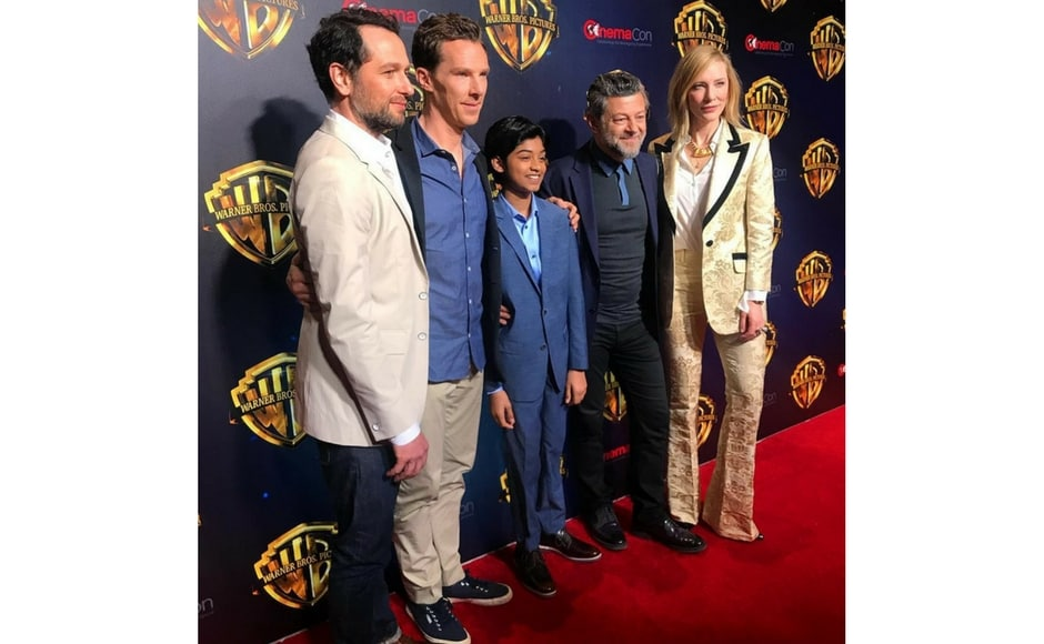 The cast of Mowgli at CinemaCon 2018/Image from Instagram @wbpictures.