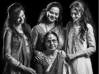 Violin maestro Dr N Rajam, daughter Sangeeta Shankar, granddaughters Ragini and Nandini on their three generation-spanning art