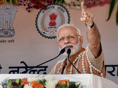 Narendra Modi in Bijapur, Chhattisgarh. PTI