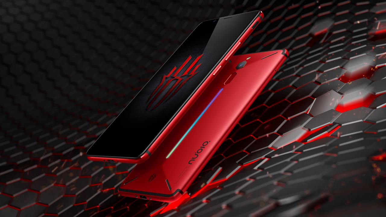 The Nubia Red Magic features configurable RGB LED lighting. Image: Nubia