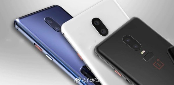 OnePlus 6 in three colour variants. Image credits: cnmo.com