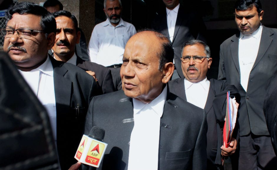 Sajjan Raj Surana, lawyer of Asaram talks to the media. The court also awarded 20 years in jail each to Asaram's warden Shilpi and associate Sharad. The court, however, acquitted Asaram's 'sevadar' Shiva and cook Sharad. PTI