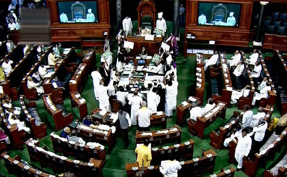 The disruptions forced the Speaker Sumitra Mahajan to adjourn the house till 12 pm and then for the whole day. The no-confidence motion moved by Opposition parties too could not be taken up due to disruptions.