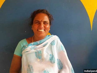 Podhum Ponnu, the Parayar dalit president of R Vellodu panchayat, is angry with the Arunthatiyar woman who contested against her. Image courtesy: Indiaspend