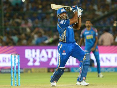 Kieron Pollard scored a 20-ball 21 against Rajasthan Royals on Sunday. AFP