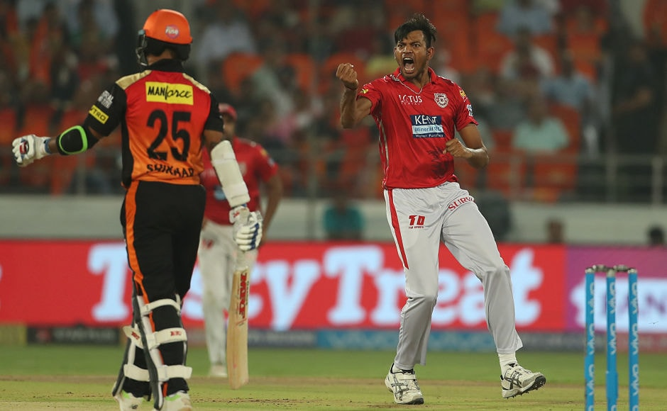 Earlier in the evening, KXIP pacer Ankit Rajpoot rattled the Sunrisers top order and went on to scalp the first five wicket haul in IPL 2018. Sportzpics