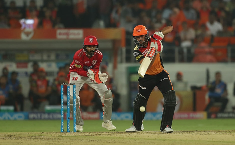 On a sticky surface, Manish Pandey wriggled his way past his half-centuryto steer his side past the 130-run mark. Sportzpics
