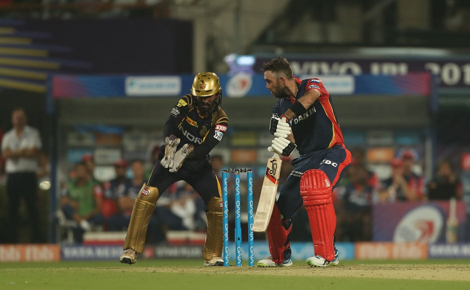 Glenn Maxwell played handy knock of 47 runs which came off 22 balls. He along with Rishabh Pant (43 off 26 balls) tried their best to chase the target but the effort was not enough to take Daredevils even near to the KKR total. Sportzpics