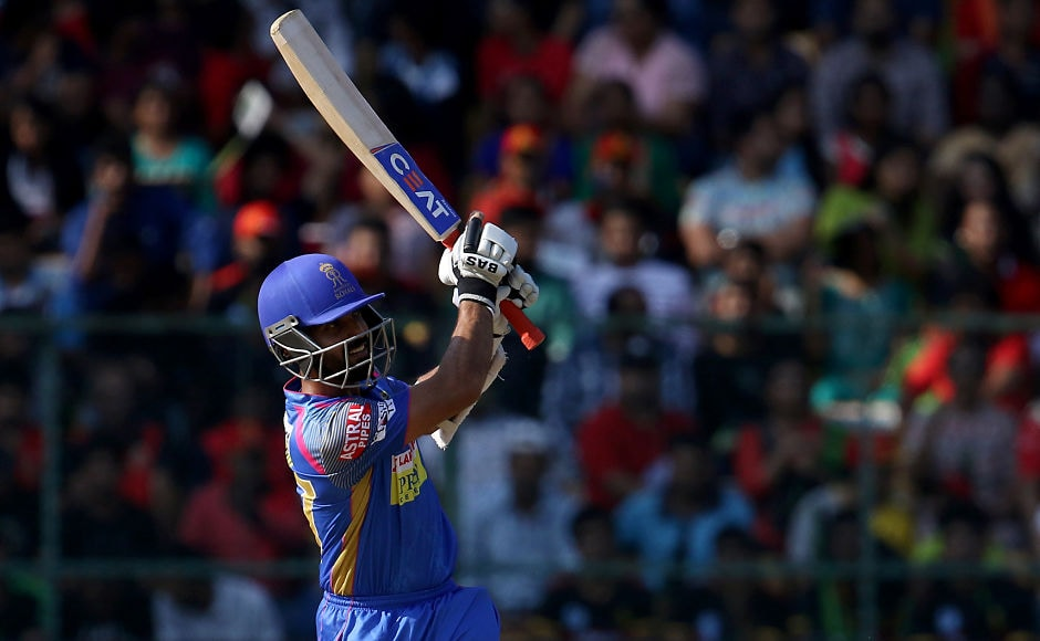 Rajasthan Royals captain Ajinkya Rahane gave a blistering start to his side, scoring 36 off 20 balls which included 6 fours and 1 six. They posted a tough target of 217 runs on the board. Sportzpics