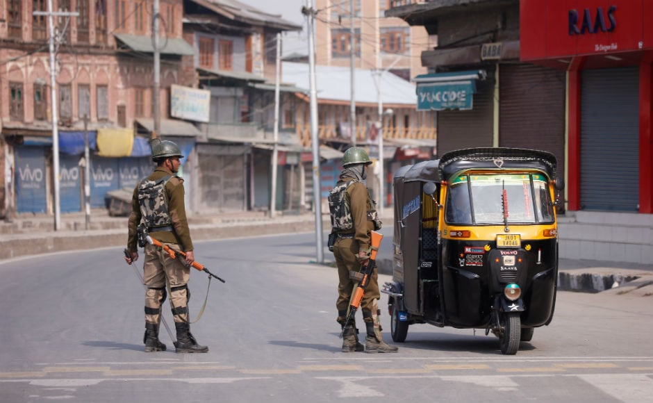 Heavy contingents of police and the paramilitary Central Reserve Police Force (CRPF) were deployed. Shops, public transport, businesses and educational institutions remained closed in the Valley for the second consecutive day. Reuters