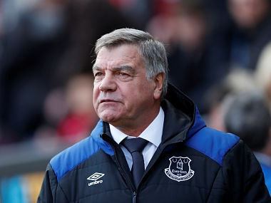 "Soccer Football - Premier League - Swansea City vs Everton - Liberty Stadium, Swansea, Britain - April 14, 2018 Everton manager Sam Allardyce before the match Action Images via Reuters/Andrew Boyers EDITORIAL USE ONLY. No use with unauthorized audio, video, data, fixture lists, club/league logos or ""live"" services. Online in-match use limited to 75 images, no video emulation. No use in betting, games or single club/league/player publications. Please contact your account representative for further details. - RC1F1CF13820"
