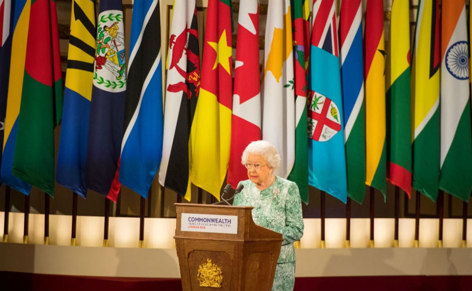 Queen Elizabeth II speaking at the Commonwealth Heads of Government Meeting (CHOGM). She appealed to Commonwealth leaders to appoint her son, Prince Charles, to succeed her as their head, making her first direct intervention into a succession plan for the 53-member grouping. Reuters