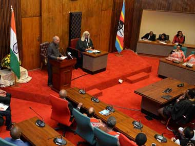 Ram Nath Kovind becomes first head of state to address Swaziland's Parliament, announces $1 mn aid