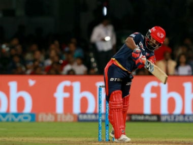 Delhi Daredevils' Rishabh Pant in action against Royal Challengers Bangalore. Sportzpics