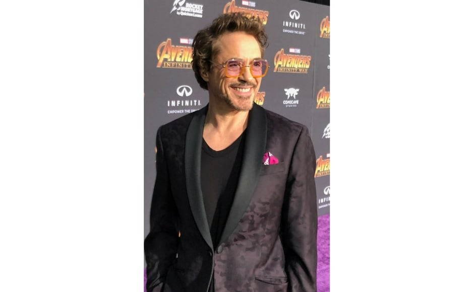 Robert Downey Jr. attends Avengers: Infinity War world premiere in Los Angeles/Image from Twitter @marvel.