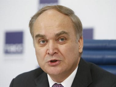 File image of Russia's ambassador to US Anatoly Antonov. Reuters