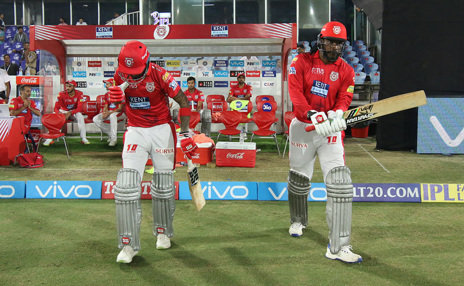 KXIP opening duo ofChris Gayle and KL Rahulnotched a 55-run stand for the first wicket, before the side imploded to 101 for 9. Sportzpics