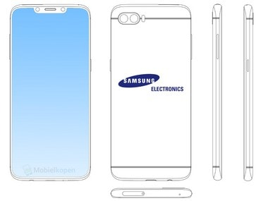 Samsung patents a smartphone with an iPhone X like notch in China, expected to be the next flagship Galaxy Note 9