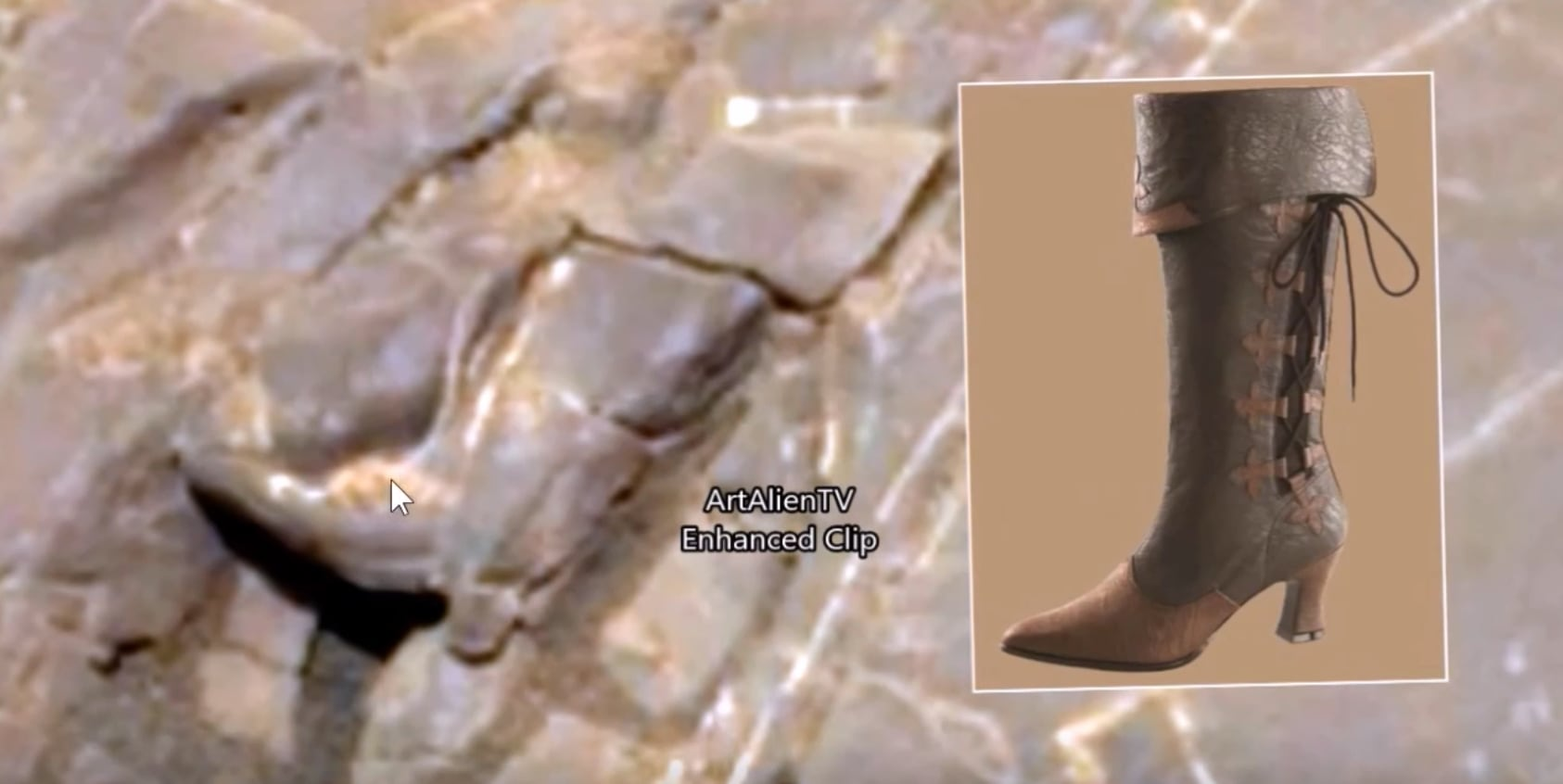 An alien boot on the Martian surface. ArtAlienTV — MARS ZOO