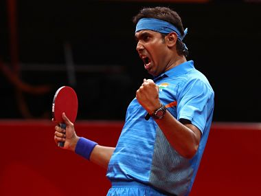 File image of Indian table tennis star Sharath Kamal. Image Courtesy: Twitter/@ittfworld