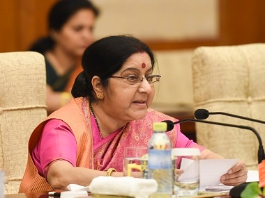 Sushma Swaraj schools man in Philippines for reference to 'Indian-occupied Kashmir' in Twitter profile