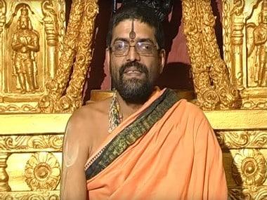 A screengrab of Swami Lakshmivara Thirtha. Image courtesy: Youtube