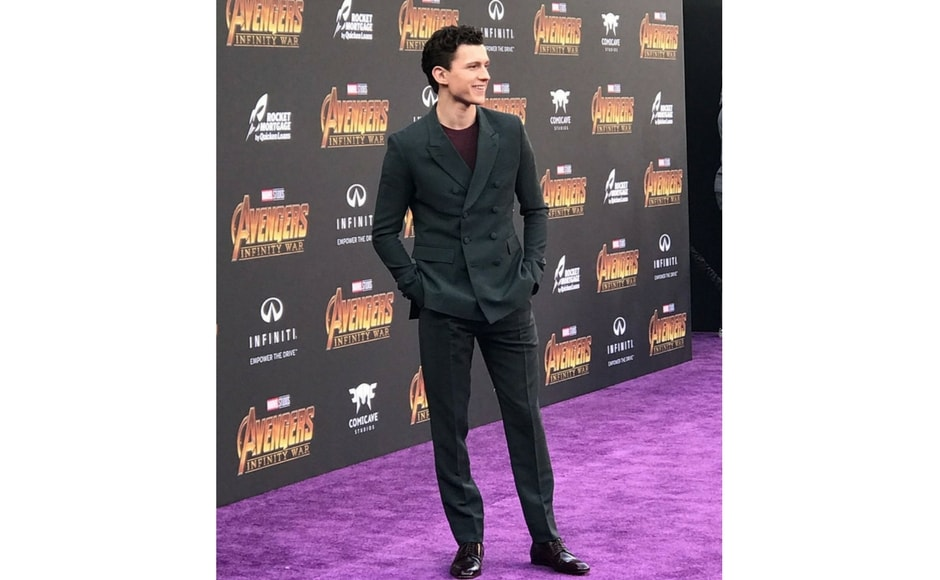 Tom Holland attends Avengers: Infinity War world premiere in Los Angeles/Image from Twitter @marvel.