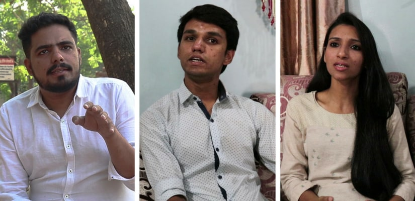 Vivek Tamaichekar (28). Siddhant Indrekar (22) and Priyanka Tamaychekar (26) are spearheading the camapign against virginity tests in their community.