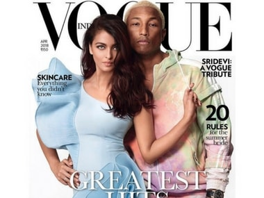 Aishwarya Rai Bachchan poses with Pharrell Williams for Vogue cover; actress discusses films, motherhood