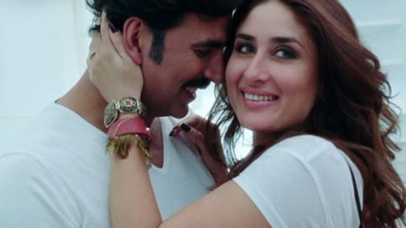 Akshay Kumar and Kareena Kapoor in Gabbar is Back. Screenshot from YouTube.