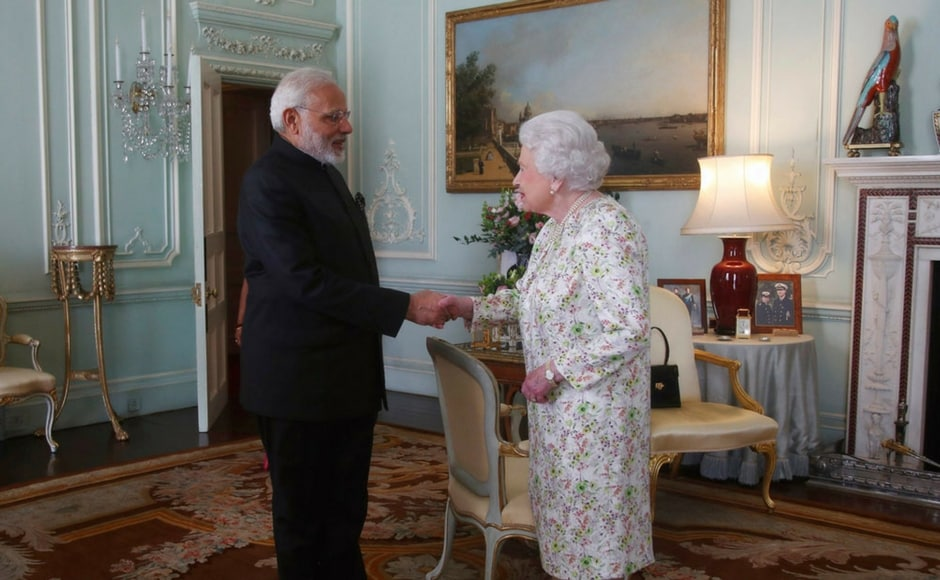 The prime minister alsomet Britain's Queen Elizabeth II at the Buckingham Palace. This was Modi's second audience with the Queen in less than three years since his visit to Britain in November 2015. AP