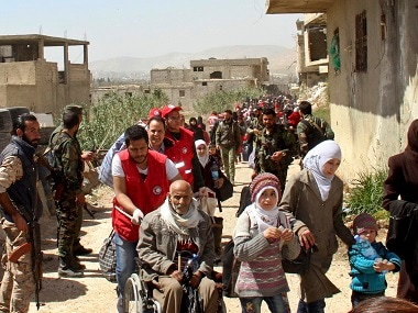 Russia agrees to evacuate civilians from eastern Ghouta as Syrian regime moves to fully retake region