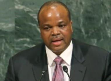 Swaziland's King Mswati III. Reuters.