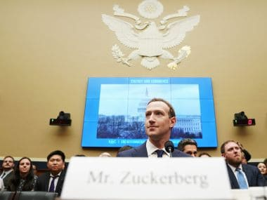Facebook CEO Mark Zuckerberg at the House Energy and Commerce hearing on Capitol Hill in Washington. AP
