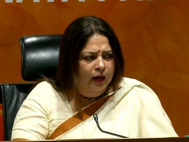 Fille image of Meenakshi Lekhi. Image courtesy: Twitter