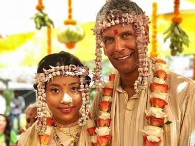 Milind Soman marries partner Ankita Konwar in a private wedding ceremony in Alibaug