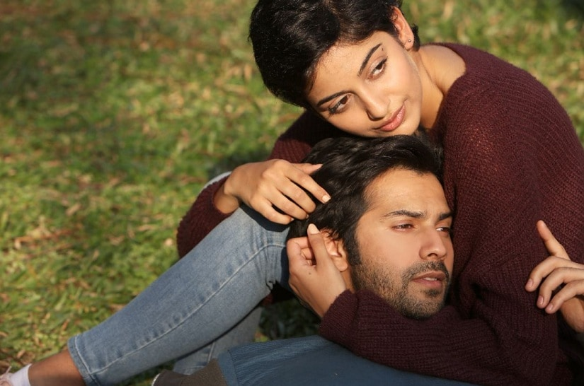 Banita Sandhu and Varun Dhawan in a promotional still of October. Twitter
