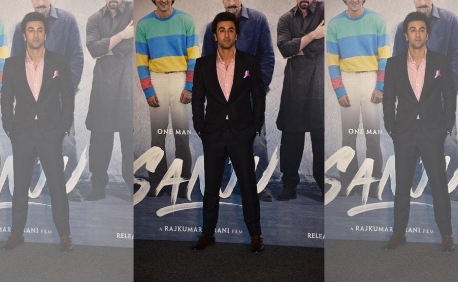 Ranbir Kapoor, Rajkumar Hirani and Vidhu Vinod Chopra launch teaser of Sanju in Mumbai