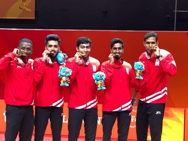 Commonwealth Games 2018: Sharath Kamal leads India to gold medal in mens table tennis team event