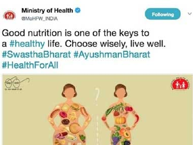 Health Ministry eats its words, deletes tweet after social media outrage over use of 'fat shaming' image
