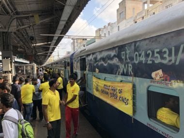 IPL 2018: Over 1,000 Chennai Super Kings fans travel to Pune in Whistle Podu Express to attend Rajasthan Royals clash