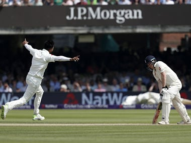 Mohammed Amir took two wickets on the morning of Day 4, restricting England with a lead of just 63 runs. AFP