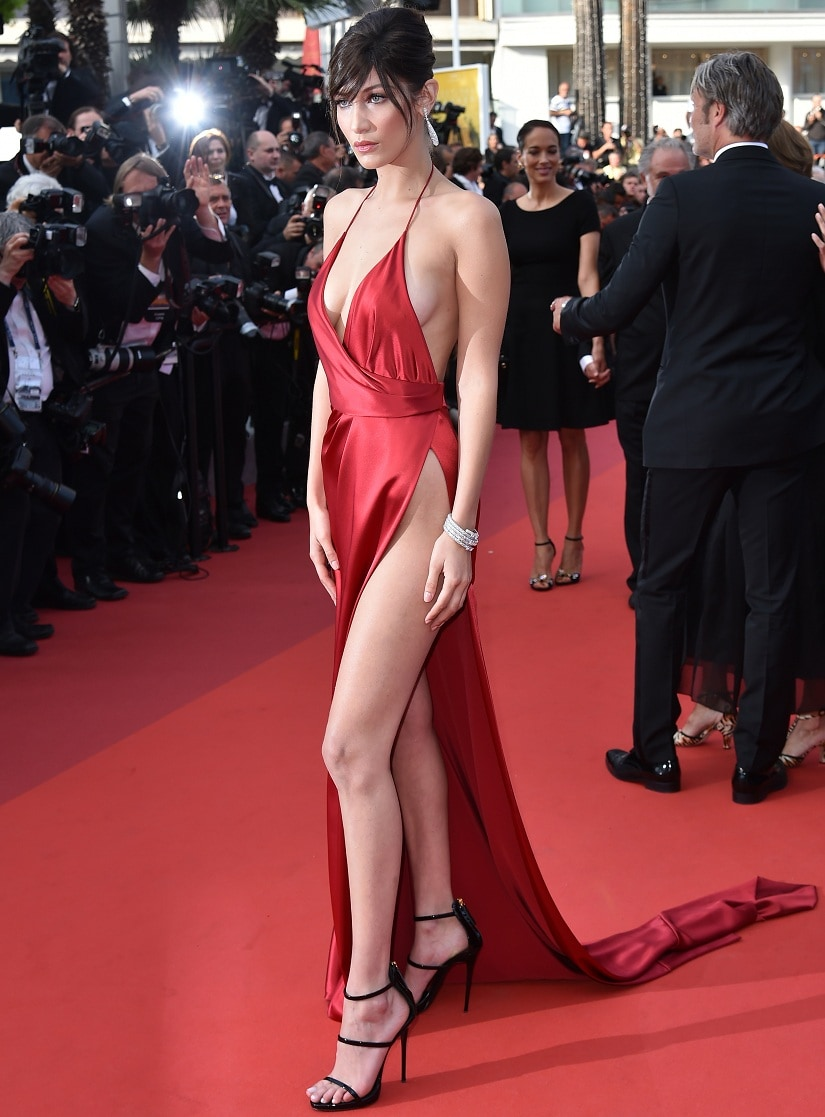 Bella Hadid. Image from AFP/ ALBERTO PIZZOLI