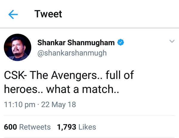 Director Shankar criticised for not tweeting on Sterlite protests in time: Can a celebrity truly be themselves on Twitter?
