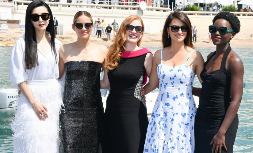Fan Bingbing, Marion Cottilard, Jessica Chastain, Penelope Cruz and Lupita Nyong'o/Image from Twitter.