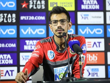 Yuzvendra Chahal of the Royal Challengers Bangalore during press conference after the match forty five of the Vivo Indian Premier League 2018 (IPL 2018) between the Delhi Daredevils and the Royal Challengers Bangalore held at the Feroz Shah Kotla Ground, Delhi on the 12th May 2018. Photo by: Arjun Singh /SPORTZPICS for BCCI