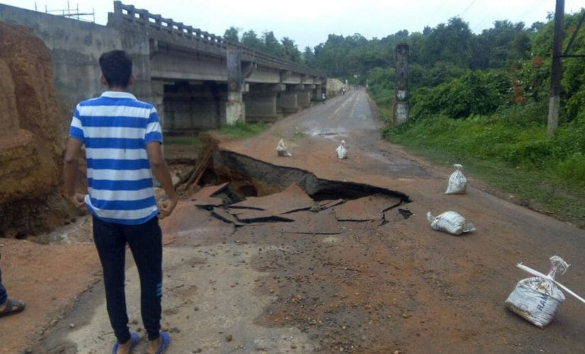 Hosmat bridge in Sulia taluk of DK district collapsed on Tuesday. 101Reproters